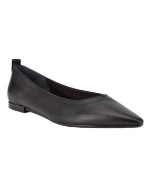 Calvin Klein Women's Raya Dressy Ballet Flats Women's Shoes In Black Leather