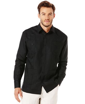 Cubavera Guayabera 4-Pocket Embroidered Shirt