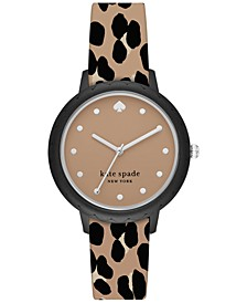 Morningside Leopard-Print Silicone Strap Watch 34mm