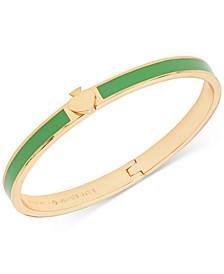 Gold-Tone & Colored Enamel Spade Bangle Bracelet