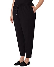 Plus Size Serenity Tapered Jogger Knit Pants