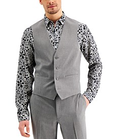 Men's Slim-Fit Gray Solid Suit Vest, Created for Macy's