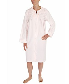 Smocked Terry Snap Robe