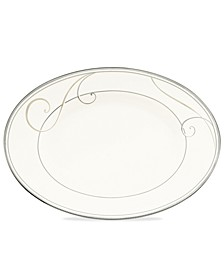 Dinnerware, Platinum Wave Oval Platter