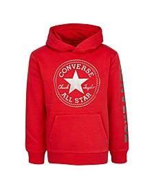 Big Boys Fleece Metallic Logo Pullover Hoodie