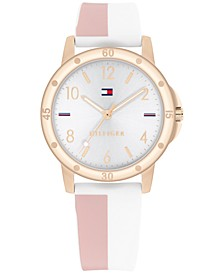Kid's Blush & White Silicone Strap Watch 34mm, Created for Macy's
