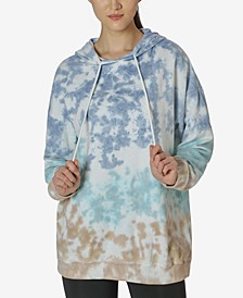 Juniors' Tie-Dyed Oversized Hoodie
