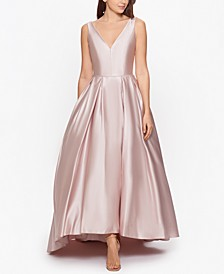 Satin High-Low Ball Gown