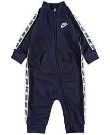 Baby Boys Logo-Taping Full-Zip Coverall