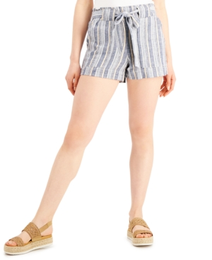 Juniors' Striped Pull-On Shorts