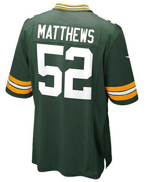 Nike Kids' Clay Matthews Green Bay Packers Game Jersey, Big Boys (8-20)