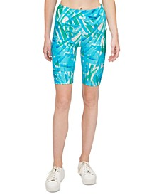 Printed High-Waist Bike Shorts