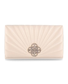 Satin Quilted Sunburst Clutch, Created for Macy's