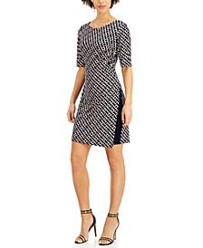 Petite Chain-Print Sheath Dress