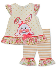 Baby Girls 2-Pc. Bunny Appliqué Tunic & Leggings Set