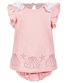 Baby Girls Sea Shell Cotton Sunsuit, Created for Macy's