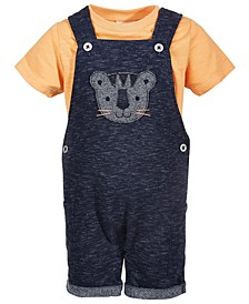 Baby Boys 2-Pc. Tiger Shortall Set, Created for Macy's
