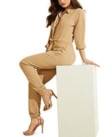 Neva Button-Front Jumpsuit