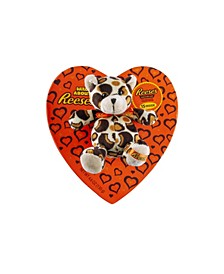 Heart Box with Plush and Reese's Miniatures