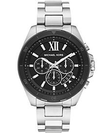 Men's Brecken Chronograph Stainless Steel Bracelet Watch 45mm