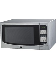 1.6 Cu.Ft Countertop Microwave Oven with 9 Convenient Cooking Functions LED Lighting Push Button, Stainless Steel