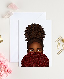 Bouquet of Curls Greeting Card
