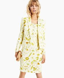 INC Floral-Print Denim Blazer, Created for Macy's