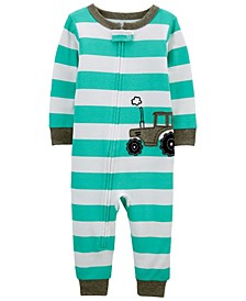 Toddler Boys Tractor Snug Fit Footless Pajama Set