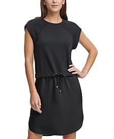 Lace-Trim Sweatshirt Dress