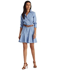 Drop-Waist Shirtdress