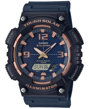 Men's Analog-Digital Black Resin Strap Watch 46.6mm