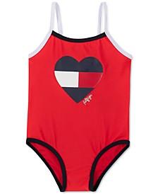 Baby Girls 1-Pc. Logo Heart Swimsuit