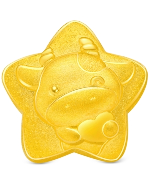 Year of the Ox Star Charm Pendant in 24k Gold