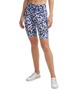 Calvin Klein Performance High-waist Bike Shorts In Jaguar Bold Blue