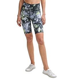 Oslo Tie-Dyed High-Waist Bike Shorts