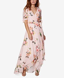 Petite Floral Wrap Maxi Dress