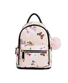 Floral Butterfly Vegan Leather Backpack