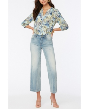 Nydj PETITE TERESA WIDE LEG ANKLE JEANS WITH CONTOURED INSEAMS