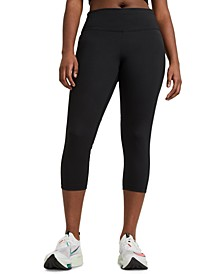 Fast Plus Size Women's Cropped Running Leggings