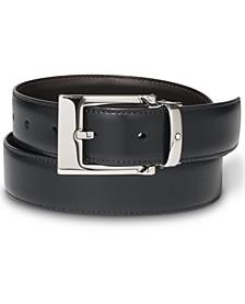 Palladium-Coated Pin Buckle Reversible Leather Belt 9774