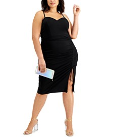 Trendy Plus Size Side-Cinched Dress