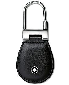 Stainless Steel Black Leather Meisterstück Key Fob 14085