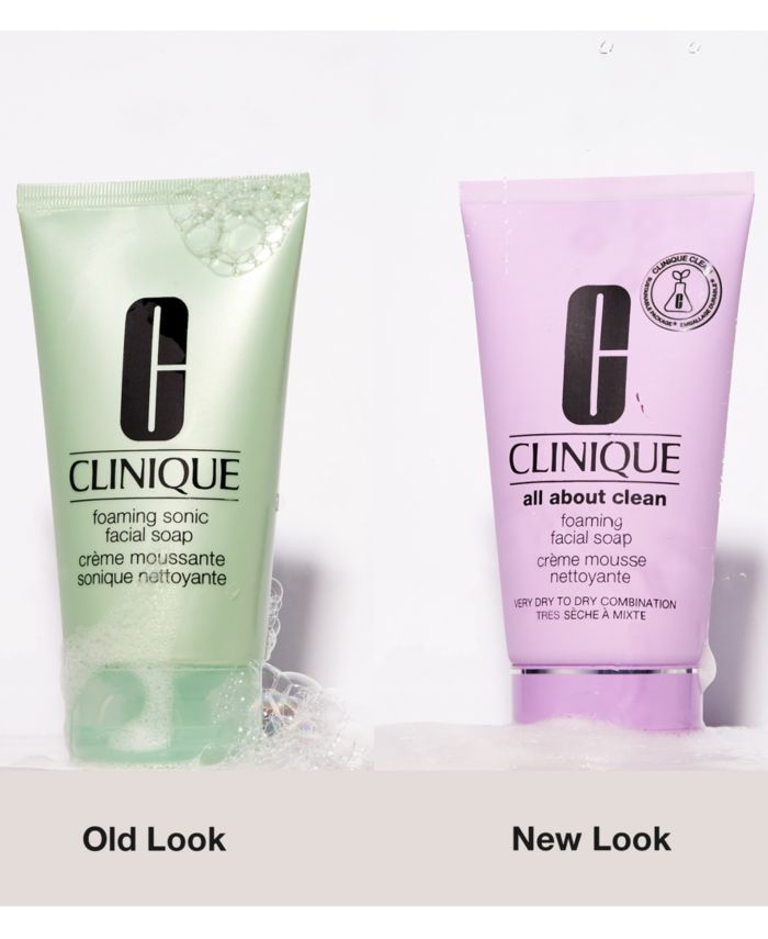 Clinique Foaming Sonic Facial Soap, 5.0 oz & Reviews - Skin Care - Beauty - Macy's