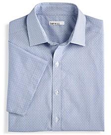 Men's Slim-Fit Performance Stretch Diamond Windowpane Short Sleeve Dress Shirt, Created for Macy's