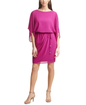 Jessica Howard Dresses PETITE BLOUSON SHEATH DRESS