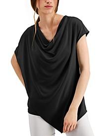 Asymmetrical Drape Neck Top, Created for Macy's