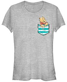 Women's Junior's Winnie The Pooh Pocket Winnie Cowl Neck Sweatshirt
