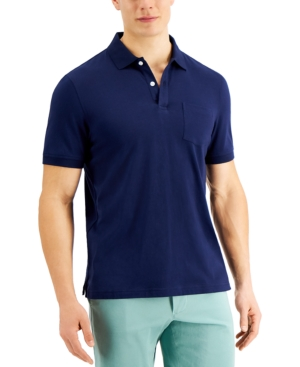 Men's Solid Jersey Polo with Pocket
