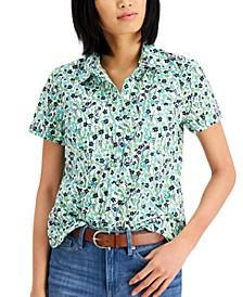 Cotton Printed Camp Shirt