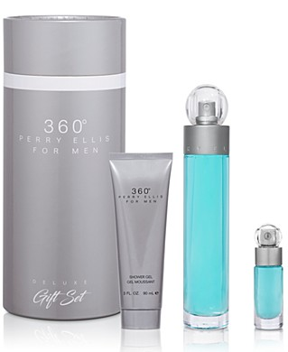 Perry Ellis Men's 3-Piece 360 deg. Eau de Toilette Gift Set